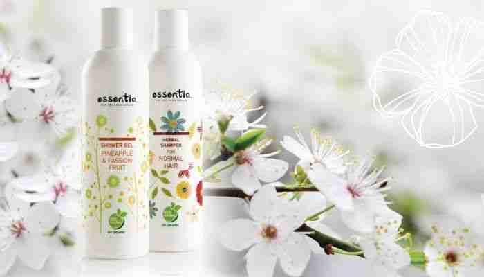 Essentiq gel za prhanje in šampon za lase.