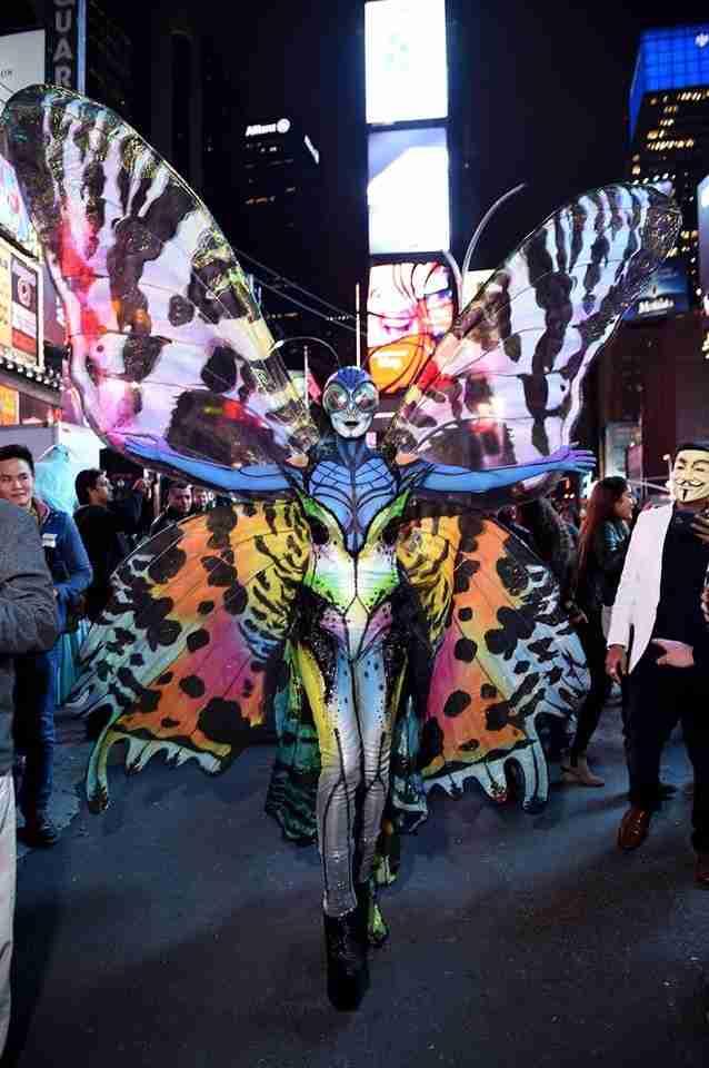 Heidi Klum kot metulj.