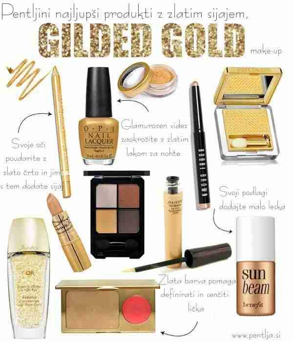 Pentljini najljubši produkti v zlati barvi.