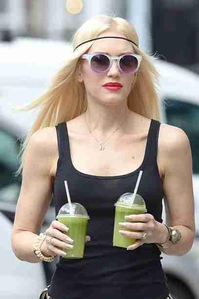 Tudi Gwen Stefani (45), z zelenimi napitki skrbi za svojo postavo. Foto: Getty Image