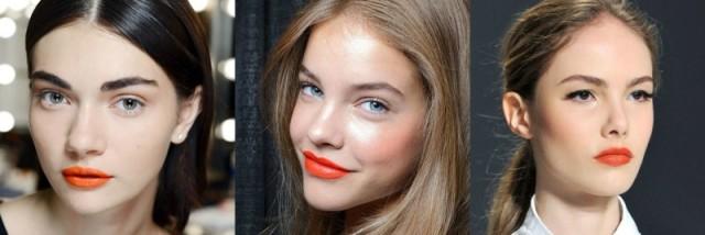 Oranžna šminka je že obnorela modne brvi. Foto: gatty