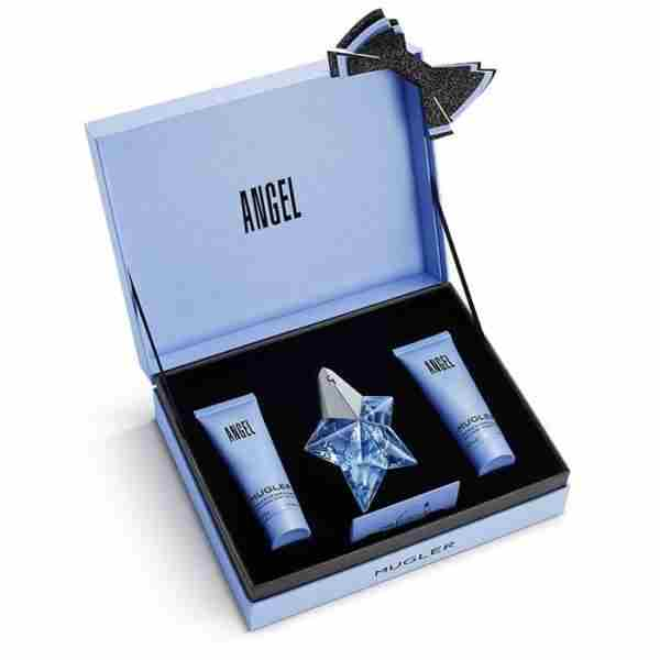 ANGEL BASIC EDP SET. Set vsebuje: EDP 25mlR + BL 50ml + SG 50ml. Cena cca. 66,90 €.