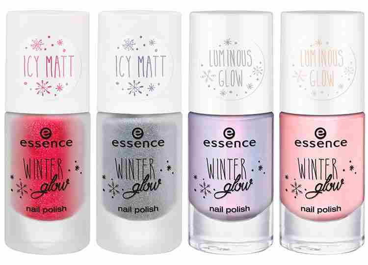 essence winter glow – lak za nohte. Na voljo v 01 miss frost, 02 i see ice, 03 lumos! in 04 let it glow!. Cena cca. 2,19€.